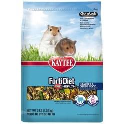 Kaytee Forti-Diet Pro Health Gerbil & Hamster Food, 3-lb.