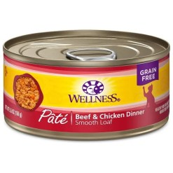 Wellness Complete Health Adult Beef & Chicken Formula Grain-Free Canned Cat Food, 5.5-oz Can.
