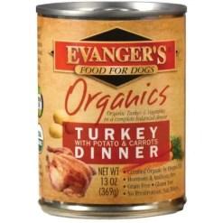 Evanger's Organics Turkey with Potato & Carrots Dinner Grain-Free Canned Dog Food, 13-oz.