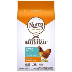 Nutro Wholesome Essentials Indoor Chicken & Brown Rice Recipe Adult Dry Cat Food, 3-lb Bag.