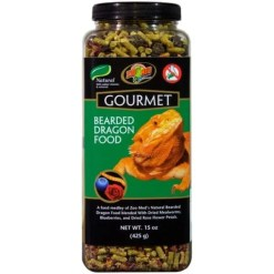 Zoo Med Gourmet Bearded Dragon Food, 15-oz Bottle.