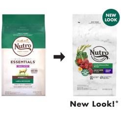 Nutro Natural Choice Small Bites Adult Lamb & Brown Rice Recipe Dry Dog Food, 5-lb