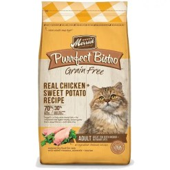Merrick Purrfect Bistro Grain-Free Chicken & Sweet Potato Adult Dry Cat Food, 4-lb Bag.