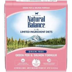 Natural Balance L.I.D. Green Pea & Salmon Formula Grain-Free Dry Cat Food, 10-lb Bag.