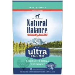 Natural Balance Original Ultra Senior Formula Chicken Grain-Free Dry Dog Food, 11-lb Bag.