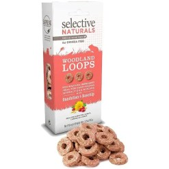 Science Selective Naturals Woodland Loops Dandelion & Rosehip Treats, 2.8-oz Box.