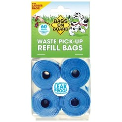 Bags on Board Bag Refill Pack, 4 Rolls.