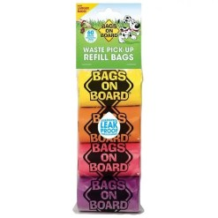 Bags on Board Bag Refill Pack, Rainbow, 4 Rolls