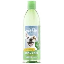 TropiClean Fresh Breath Water Additive, 16-oz Bottle.