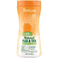 TropiClean Natural Flea & Tick Carpet & Pet Powder, 11-oz Bottle.