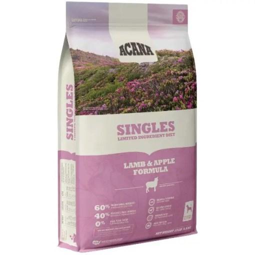 Acana Singles Lamb & Apple Dog Food, 13-lb Bag.