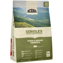 Acana Singles Pork & Squash Dog Food, 4.5-lb Bag.