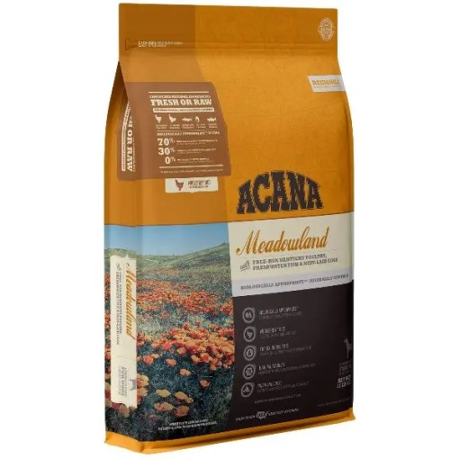 Acana Regional Meadowland Grain-Free Dog Food, 13-lb Bag.