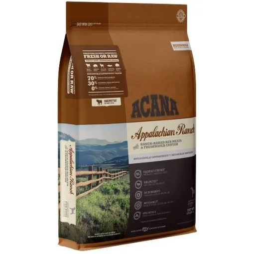 Acana Regional Appalachian Ranch Grain-Free Dog Food, 25-lb Bag.