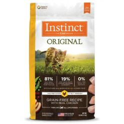 Instinct Original Chicken Grain-Free with Freeze-Dried Raw Coated Dry Cat Food, 5-lb Bag.