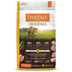 Instinct Original Chicken Grain-Free with Freeze-Dried Raw Coated Dry Cat Food, 11-lb Bag.