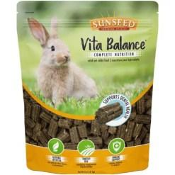 Sunseed Vita Balance Adult Rabbit Food, 4-lb Bag.