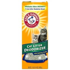 Arm & Hammer Litter Cat Litter Deodorizer Powder, 30-oz Box.
