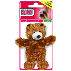 KONG Dr. Noyz Teddy Plush Dog Toy, Extra Small.