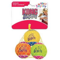 KONG Air Dog Squeakair Birthday Balls Dog Toy, 3 Pack.