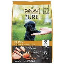 CANIDAE Grain-Free PURE Puppy Real Chicken, Lentil & Whole Egg Recipe Dry Dog Food, 24-lb Bag.