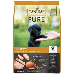 CANIDAE Grain-Free PURE Puppy Real Chicken, Lentil & Whole Egg Recipe Dry Dog Food, 12-lb Bag.
