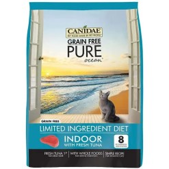 CANIDAE Grain-Free PURE Ocean with Tuna Indoor Formula Dry Cat Food, 10-lb Bag