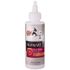 Nutri-Vet Dog Eye Rinse for Dogs, 4-oz Bottle.