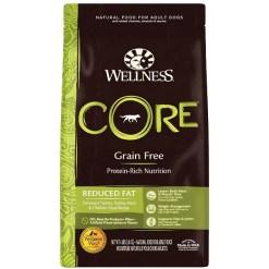 Wellness CORE Grain-Free Reduced Fat Turkey & Chicken Recipe Dry Dog Food, 4-lb Bag.