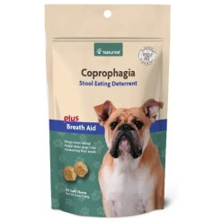 NaturVet Coprophagia Deterrent Plus Breath Aid Dog Soft Chews, 90 Count.