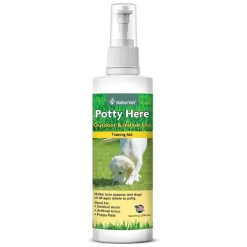 NaturVet Potty Here Training Aid Spray, 8-oz Bottle.
