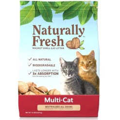 Naturally Fresh Multi-Cat Unscented Clumping Walnut Cat Litter, 14-lb Bag SKU 5024422003