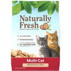 Naturally Fresh Multi-Cat Unscented Clumping Walnut Cat Litter, 26-lb Bag SKU 5024423002