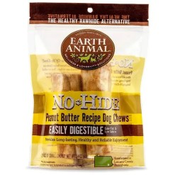 Earth Animal No-Hide Peanut Butter Chew, 4-in, 2 Pack.