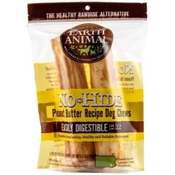 Earth Animal No-Hide Peanut Butter Chew, 7-in, 2 Pack.