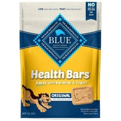 Blue Buffalo Health Bars Baked with Banana & Yogurt Dog Treats, 16-oz Bag.