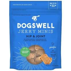 Dogswell Jerky Minis Hip & Joint Chicken Recipe Grain-Free Dog Treats, 4-oz Bag.