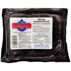 Halshan Premium Raw Food Frozen Whole Ground Duck with Bone & Vegetables Pet Food.