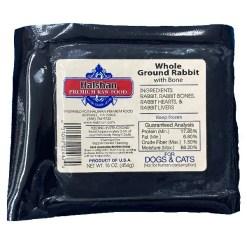 Halshan Premium Raw Food Whole Ground Rabbit Frozen Raw Pet Food, 1-lb.
