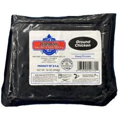 Halshan Premium Raw Food Frozen Ground Chicken Pet Food, 1-lb.