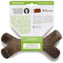Benebone Maplestick Tough Dog Chew Toy, Medium.