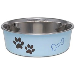 Loving Pets Bella Bowls Pet Bowl, Large, Murano Blue.