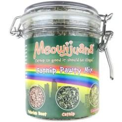 Meowijuana Catnip Pawty Mix, 60-g Jar.