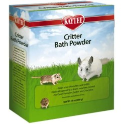 Kaytee Critter Bath Powder for Small Animal Pets, 14-oz Box.