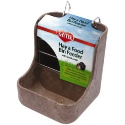 Kaytee Hay & Food Bin Feeder with Quick Locks.