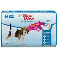 Wee-Wee Disposable Doggie Diapers, Medium, 12 Count. SKU 4566397232