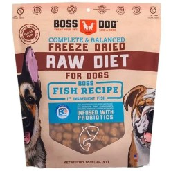 Boss Dog Freeze Dried Raw Diet Fish Recipe Dog Food, 12-oz.