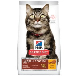 Science Diet Adult 7+ Hairball Control Chicken Recipe Dry Cat Food, 3.5-lb.
