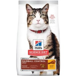 Science Diet Adult Hairball Control Chicken Recipe Dry Cat Food, 7-lb