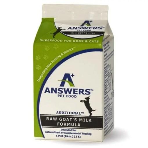 Answers Frozen Raw Fermented Raw Goat Milk, 16-oz.